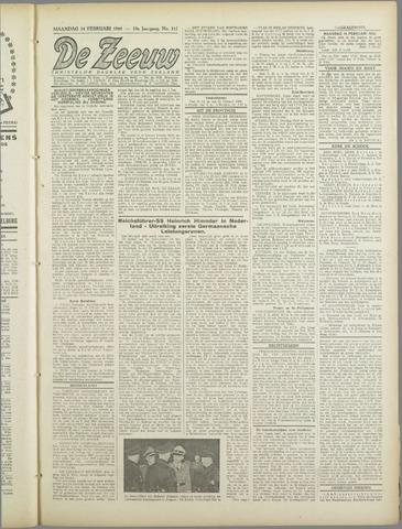 De Zeeuw. Christelijk-historisch nieuwsblad voor Zeeland 1944-02-14