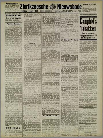 Zierikzeesche Nieuwsbode 1921-04-01