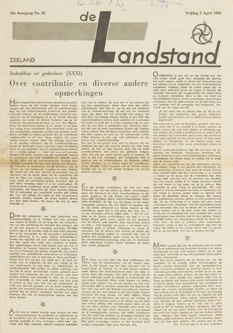 De landstand in Zeeland, geïllustreerd weekblad. 1943-04-02
