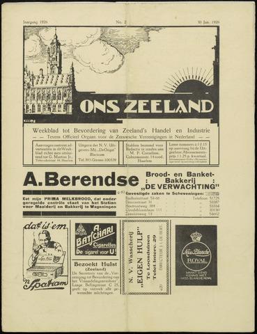 Ons Zeeland / Zeeuwsche editie 1926-01-30