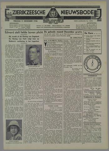 Zierikzeesche Nieuwsbode 1936-12-11