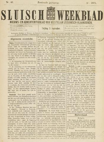 Sluisch Weekblad. Nieuws- en advertentieblad voor Westelijk Zeeuwsch-Vlaanderen 1875-09-03