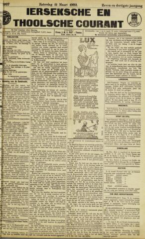 Ierseksche en Thoolsche Courant 1922-03-11