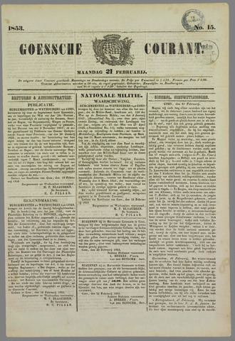 Goessche Courant 1853-02-21