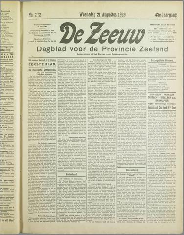 De Zeeuw. Christelijk-historisch nieuwsblad voor Zeeland 1929-08-21