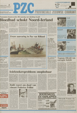 Provinciale Zeeuwse Courant 1993-11-01