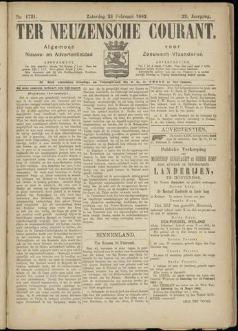 Ter Neuzensche Courant. Algemeen Nieuws- en Advertentieblad voor Zeeuwsch-Vlaanderen / Neuzensche Courant ... (idem) / (Algemeen) nieuws en advertentieblad voor Zeeuwsch-Vlaanderen 1882-02-25