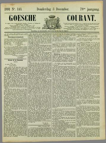 Goessche Courant 1891-12-03