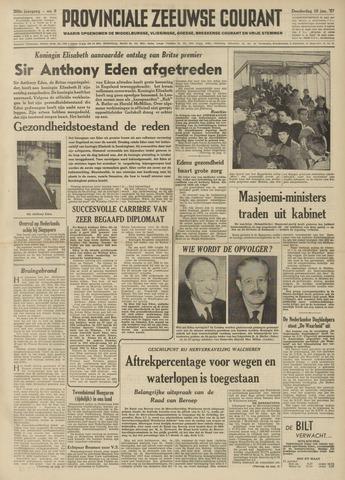 Provinciale Zeeuwse Courant 1957-01-10
