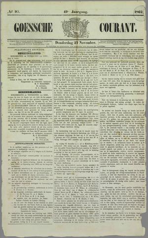 Goessche Courant 1862-11-27