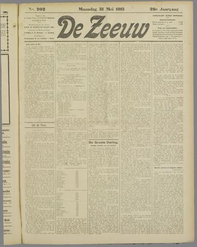 De Zeeuw. Christelijk-historisch nieuwsblad voor Zeeland 1915-05-31