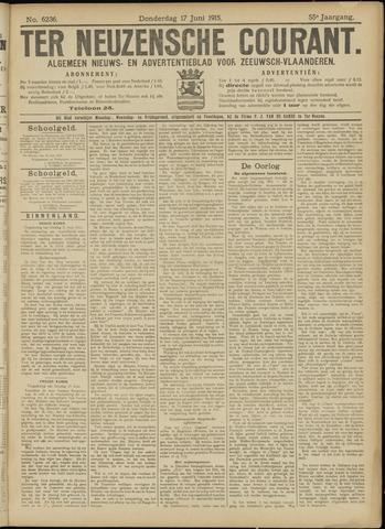 Ter Neuzensche Courant. Algemeen Nieuws- en Advertentieblad voor Zeeuwsch-Vlaanderen / Neuzensche Courant ... (idem) / (Algemeen) nieuws en advertentieblad voor Zeeuwsch-Vlaanderen 1915-06-17