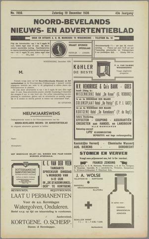 Noord-Bevelands Nieuws- en advertentieblad 1936-12-19
