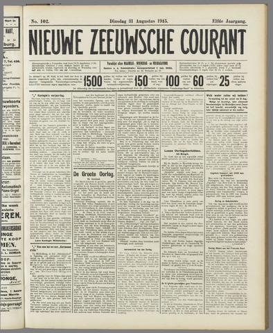 Nieuwe Zeeuwsche Courant 1915-08-31