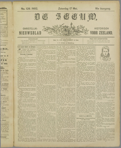 De Zeeuw. Christelijk-historisch nieuwsblad voor Zeeland 1902-05-17