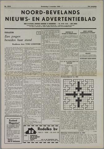 Noord-Bevelands Nieuws- en advertentieblad 1980-11-02
