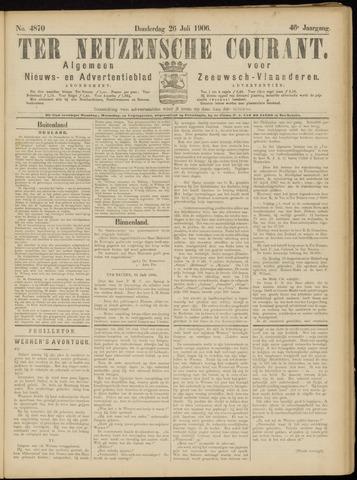 Ter Neuzensche Courant. Algemeen Nieuws- en Advertentieblad voor Zeeuwsch-Vlaanderen / Neuzensche Courant ... (idem) / (Algemeen) nieuws en advertentieblad voor Zeeuwsch-Vlaanderen 1906-07-26