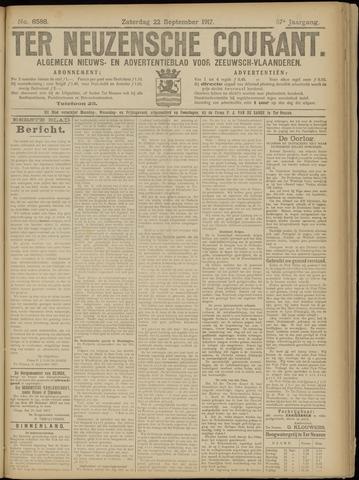 Ter Neuzensche Courant. Algemeen Nieuws- en Advertentieblad voor Zeeuwsch-Vlaanderen / Neuzensche Courant ... (idem) / (Algemeen) nieuws en advertentieblad voor Zeeuwsch-Vlaanderen 1917-09-22