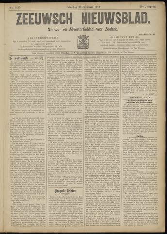 Ter Neuzensch Volksblad. Vrijzinnig nieuws- en advertentieblad voor Zeeuwsch- Vlaanderen / Zeeuwsch Nieuwsblad. Nieuws- en advertentieblad voor Zeeland 1918-02-23