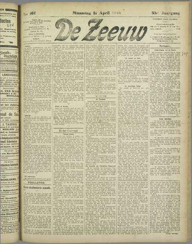 De Zeeuw. Christelijk-historisch nieuwsblad voor Zeeland 1921-04-11
