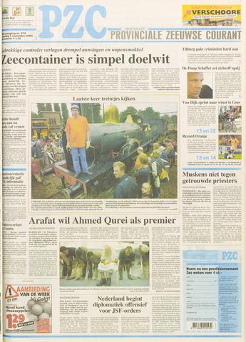 Provinciale Zeeuwse Courant 2003-09-08