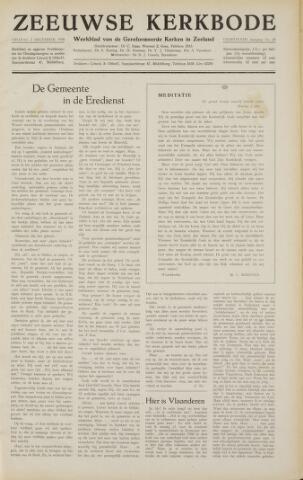 Zeeuwsche kerkbode, weekblad gewijd aan de belangen der gereformeerde kerken/ Zeeuwsch kerkblad 1958-12-05