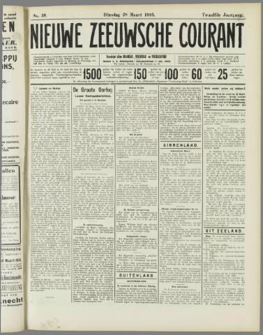 Nieuwe Zeeuwsche Courant 1916-03-28