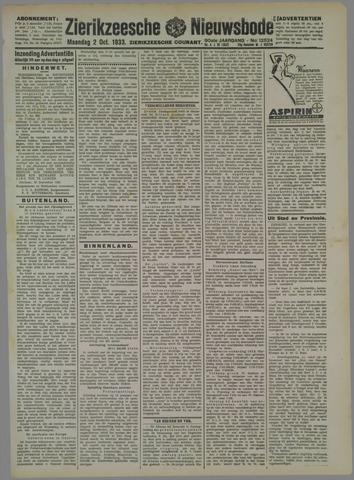 Zierikzeesche Nieuwsbode 1933-10-02