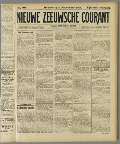 Nieuwe Zeeuwsche Courant 1919-09-11