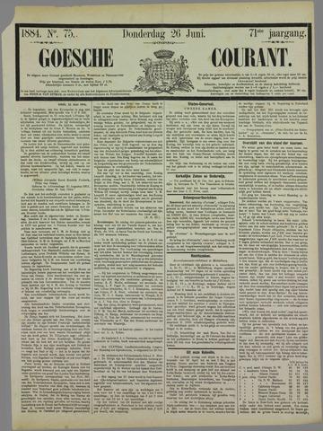 Goessche Courant 1884-06-26
