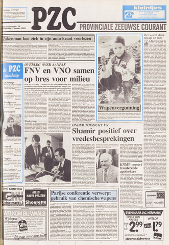 Provinciale Zeeuwse Courant 1989-01-12