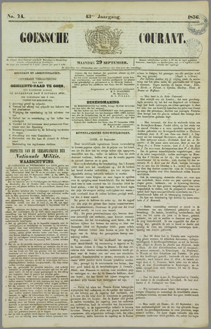 Goessche Courant 1856-09-29