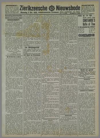 Zierikzeesche Nieuwsbode 1932-10-03