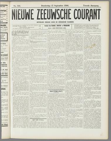 Nieuwe Zeeuwsche Courant 1906-09-27