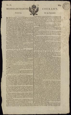 Middelburgsche Courant 1814-09-29