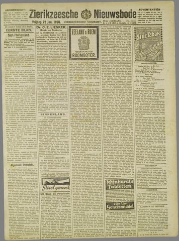 Zierikzeesche Nieuwsbode 1926-01-22