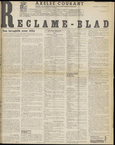 Axelsche Courant 1953-12-31