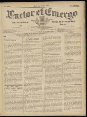 Luctor et Emergo. Antirevolutionair nieuws- en advertentieblad voor Zeeland / Zeeuwsch-Vlaanderen. Orgaan ter verspreiding van de christelijke beginselen in Zeeuwsch-Vlaanderen 1913-05-03