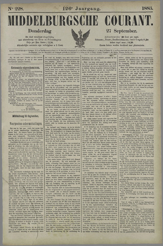 Middelburgsche Courant 1883-09-27