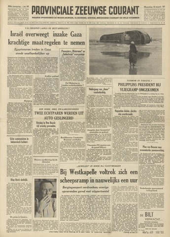 Provinciale Zeeuwse Courant 1957-03-18