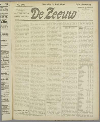 De Zeeuw. Christelijk-historisch nieuwsblad voor Zeeland 1916-06-05