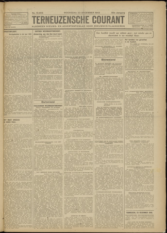 Ter Neuzensche Courant. Algemeen Nieuws- en Advertentieblad voor Zeeuwsch-Vlaanderen / Neuzensche Courant ... (idem) / (Algemeen) nieuws en advertentieblad voor Zeeuwsch-Vlaanderen 1942-12-23