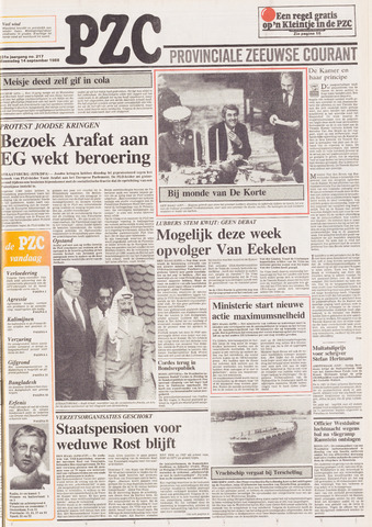 Provinciale Zeeuwse Courant 1988-09-14