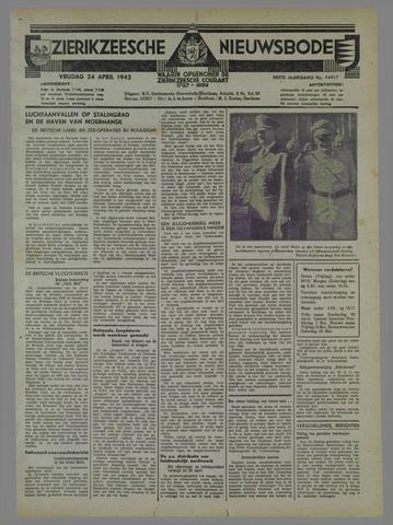 Zierikzeesche Nieuwsbode 1942-04-24