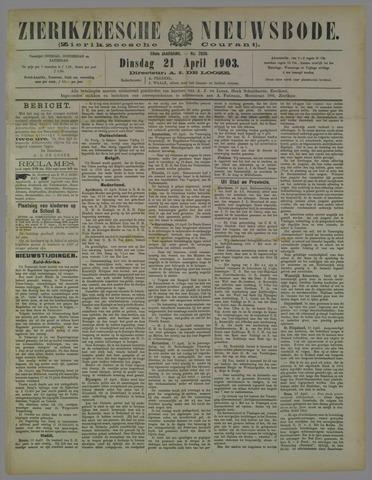 Zierikzeesche Nieuwsbode 1903-04-21