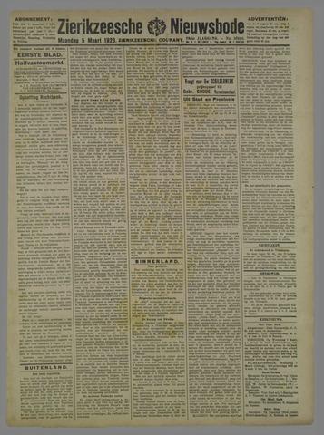 Zierikzeesche Nieuwsbode 1923-03-05