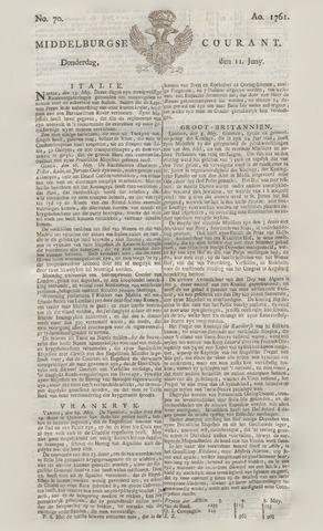 Middelburgsche Courant 1761-06-11
