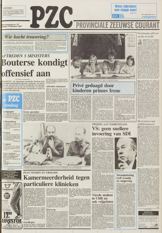 Provinciale Zeeuwse Courant 1987-02-13