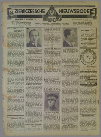 Zierikzeesche Nieuwsbode 1939
