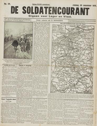 De Soldatencourant. Orgaan voor Leger en Vloot 1914-12-20